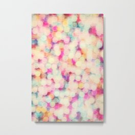 Retro Candy Bokeh Metal Print