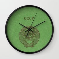 soviet Wall Clocks featuring Soviet prove by KRADA ZHAN ART