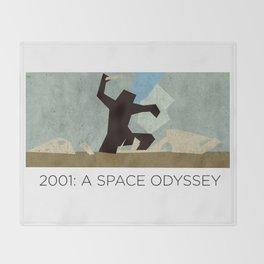 Minimalist 2001: A space odyssey (2) Throw Blanket