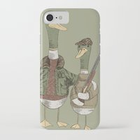 hunting iPhone & iPod Cases featuring Hunting Ducks by David Fleck