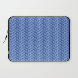 3D Optical Illusion: Blue Star Pattern Laptop Sleeve