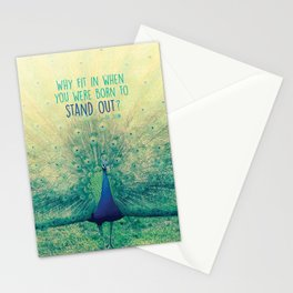 Peacock Spreading Feathers Stationery Cards