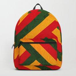 Colurful Geometric Grunge Reggea Texture Backpack