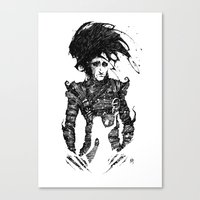 edward scissorhands Canvas Prints featuring Edward Scissorhands by Ben BASSO