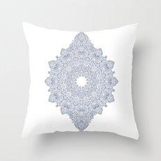 Navy Mandala Throw Pillow