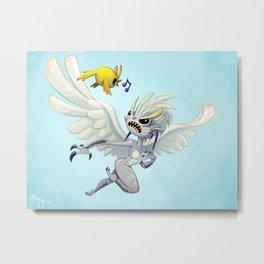 grumpy harpie makes a friend Metal Print