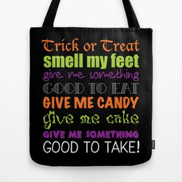 Trick or Treat Rhyme | Halloween  Tote Bag