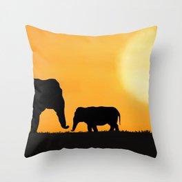 Parenting on the Horizon Throw Pillow