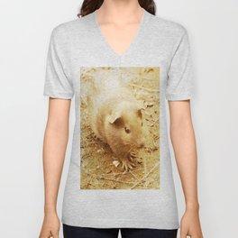 Vintage Animals - Guinea Pig Unisex V-Neck