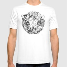 Wurme Mens Fitted Tee MEDIUM White