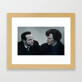 Sherlock & Moriarty Framed Art Print