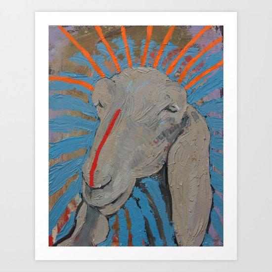 Sheep Head Art Print