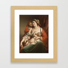 Friedrich von Amerling Charity (The Cook Katharina Framed Art Print