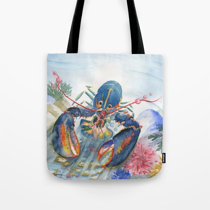 4f70072c47 Under The Sea 2 - Lobster Tote Bag by mellyterpening