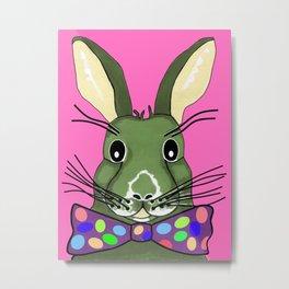 Easter Bunny Pink Metal Print