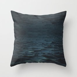 Digital Sea Throw Pillow