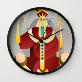 tarot fifth card the pope the hierophant Wall Clock