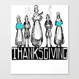 Thanksgiving Teal Pumpkin Food Allergy Awareness Canvas Print
