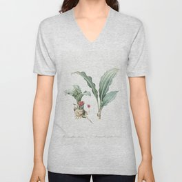 Branched St Bernards lily  from Les liliacees (1805) by Pierre Joseph Redoute (1759-1840) Unisex V-Neck