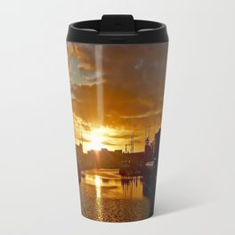 Sunset in Swansea Travel Mug