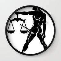 libra Wall Clocks featuring Libra by PSimages