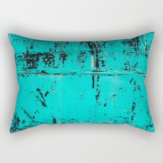 Old Blue Paint Rectangular Pillow