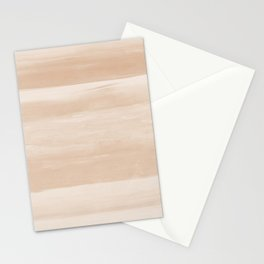 Touching Warm Beige Watercolor Abstract #3 #painting #decor #art #society6 Stationery Cards