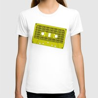 tape T-shirts featuring Caution Tape by Resistance
