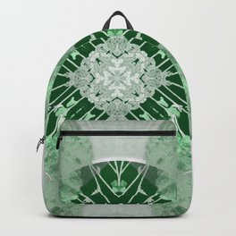 Microchip Mandala in Green Backpack