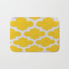 Yellow Cross Pattern Bath Mat