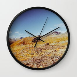 Fall in Scandinavia - Norwegian National Park Landscape Shot on Film Wall Clock