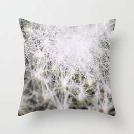 Sempervivum Spiderweb Throw Pillow