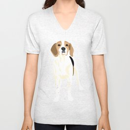 Gracie the coonhound Unisex V-Neck