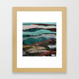 Layered Abstract Sunsets Framed Art Print