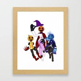 Pumpkin siblings Framed Art Print