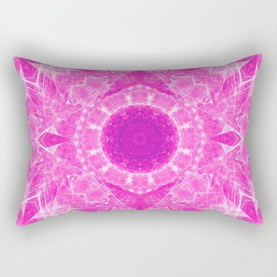 Vibrant pink kaleidoscope Rectangular Pillow
