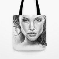 fierce Tote Bags featuring Fierce by Brianna Bizik