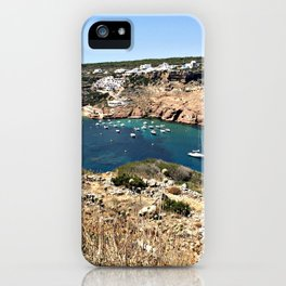 Mediterranean Bay on Menorca iPhone Case