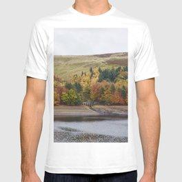 Autumnal trees at Derwent Reservoir. Derbyshire, UK. T-shirt