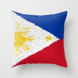 Extruded flag of the Philippines Throw Pillow