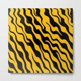 adstract tiger pattern Metal Print