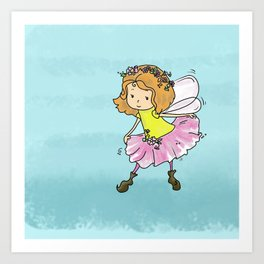 Sweet Little Pixie Curtsy  Art Print