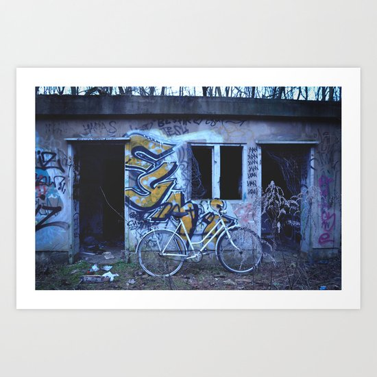 Abandoned place Art Print