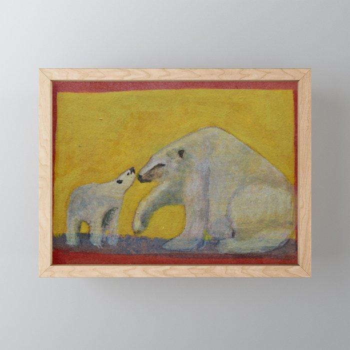 Polar bears Framed Mini Art Print