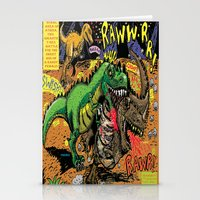 hentai Stationery Cards featuring Space Chick & Nympho: Vampire Warrior Party Girl Comix #1- Tyrano the Dinosaur-God  in Comic Page  by Tex Watt
