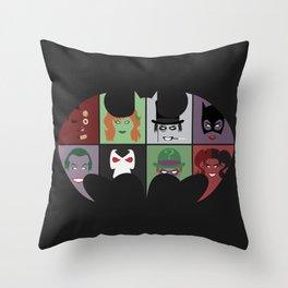 Bat Villains Throw Pillow