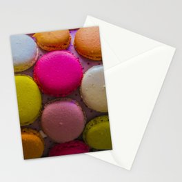 Colorful Macarons Tasty Dessert Treat Stationery Cards