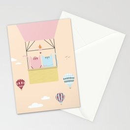 Traveling Tabbies: Hot Air Balloon Stationery Cards