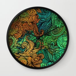 Indian Pattern 02 Wall Clock