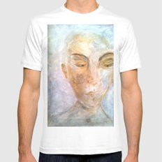 impoverished White Mens Fitted Tee MEDIUM
